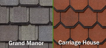Grand Manor and Carriage House Style Shingles
