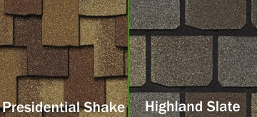Presidential Shake and Highland Slate Shingles